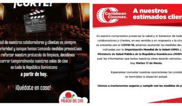 Cierran de manera temporal salas de cine del país