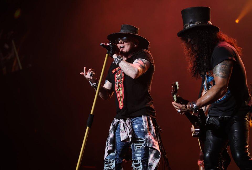 Posponen hasta noviembre concierto de Guns N' Roses por coronavirus