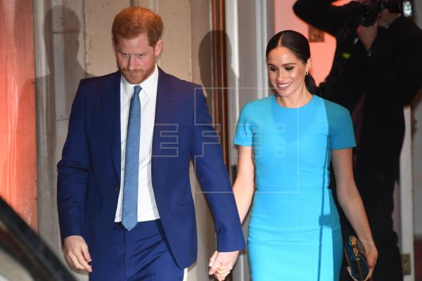 Los duques de Sussex aparecen en Londres en el tramo final del