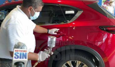 Grupo Viamar desinfecta vehículos de instituciones del Estado