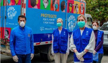 Alcaldía DN y PNUD entregan 400 mil kits con guantes y mascarillas