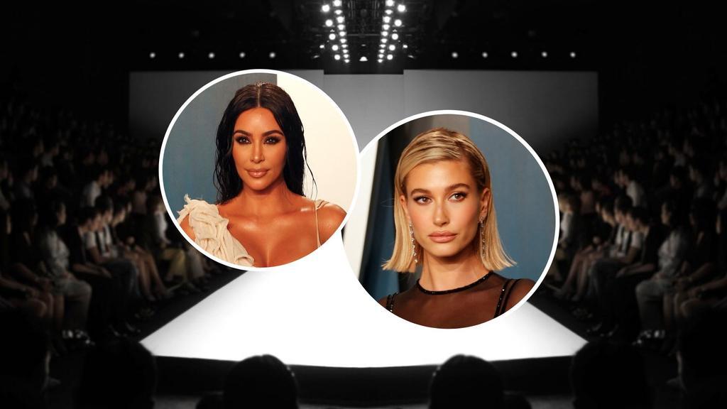 Kim Kardashian y Hailey Bieber desfilarán en sus casas contra el coronavirus