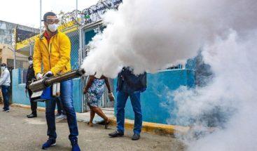 Candidato a senador realiza jornada de desinfección en Los Guandules