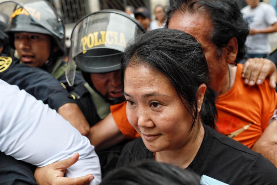 Keiko Fujimori advierte desde cárcel gran riesgo de contagio entre reclusas