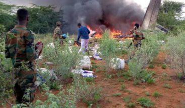 Seis muertos al estrellarse un avión con material para la COVID-19 en Somalia