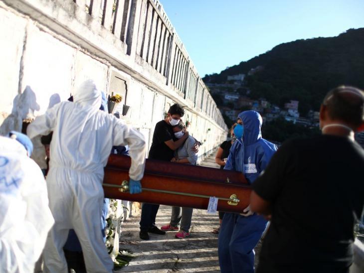 Brasil llega a 26.754 muertos y tiene récord diario de 26.417 casos de COVID