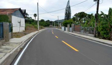 MOPC concluye reconstrucción de carretera La Penda en La Vega
