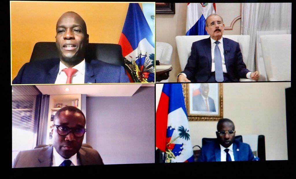 Presidente Medina trata tema COVID-19 con su homólogo haitiano