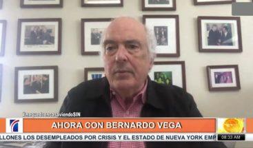"""Bernardo Vega:  """"¿Cómo serán nuestras filas en la época post corona?"""