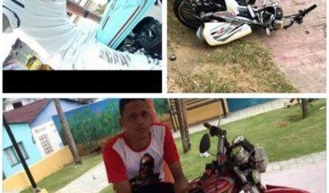 Joven muere tras chocar motocicleta con poste eléctrico en Gaspar Hernández