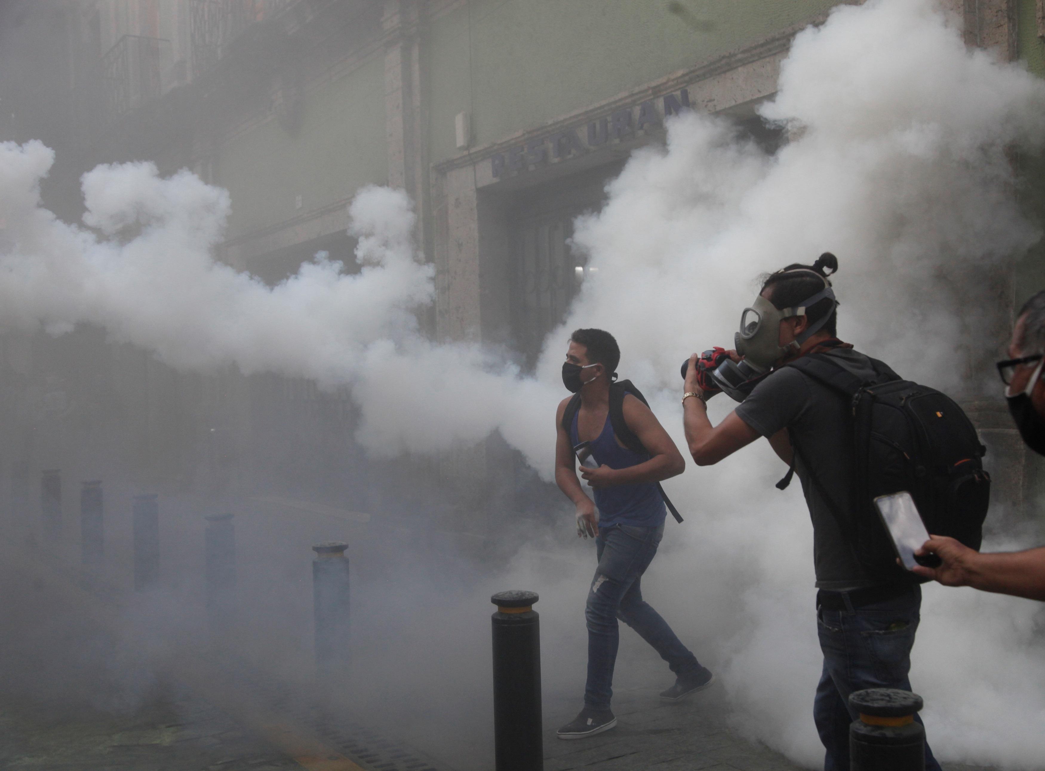 Denuncian desaparición de detenidos en protestas contra policías en México