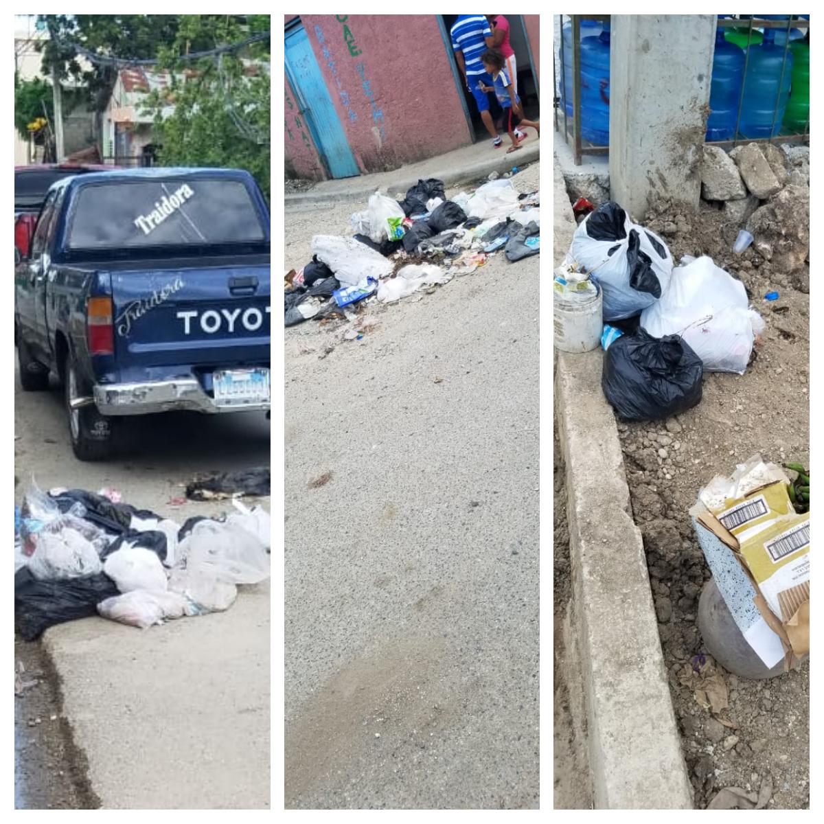 Residentes denuncian calles llenas de basura en Villa Linda