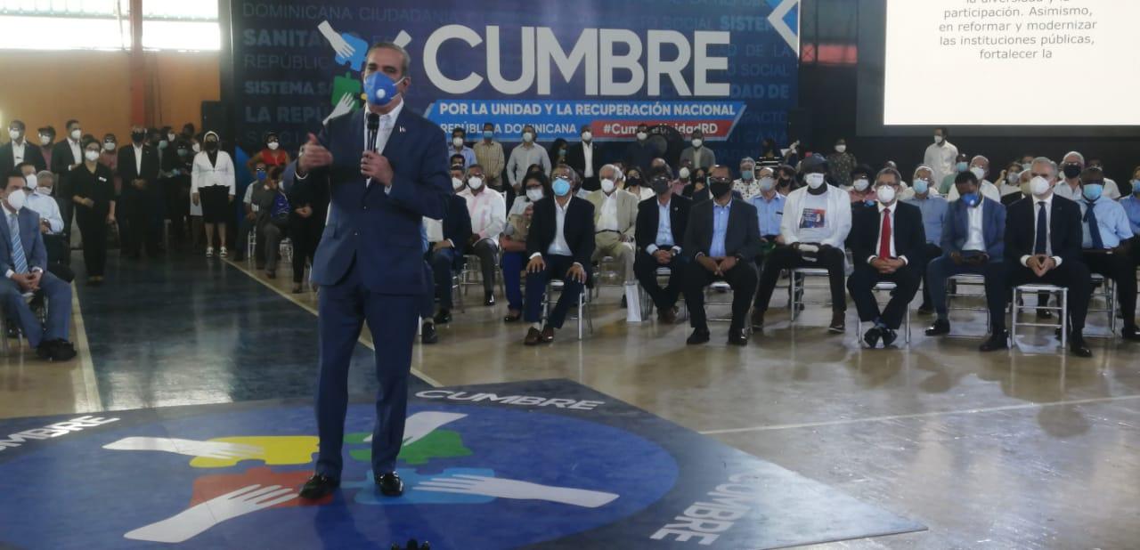 Abinader propone convertir Cumbre por la Unidad y Recuperación en espacio permanente de consulta