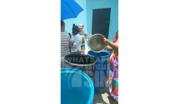 Moradores de La Piña denuncian falta de agua potable