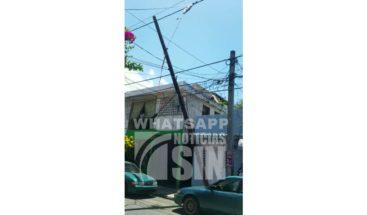 Moradores de Villa Consuelo corren peligro por poste eléctrico a punto de caer