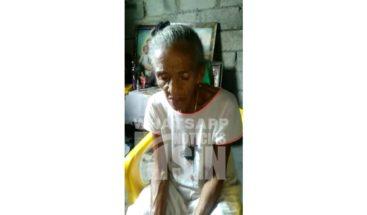 Piden ayuda para señora de 100 años que vive en condiciones precarias