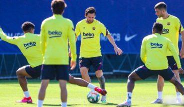 Messi vuelve a entrenarse con el grupo para preparar el partido de Mallorca