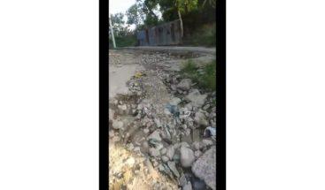 Exigen el asfaltado de las calles en sector Pekín de Santiago