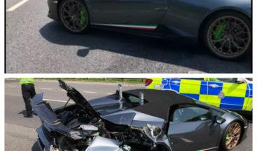 Un hombre compra un Lamborghini y sufre un accidente 20 minutos después