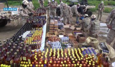 Cesfront decomisa cargamento de bebidas alcohólicas en la frontera