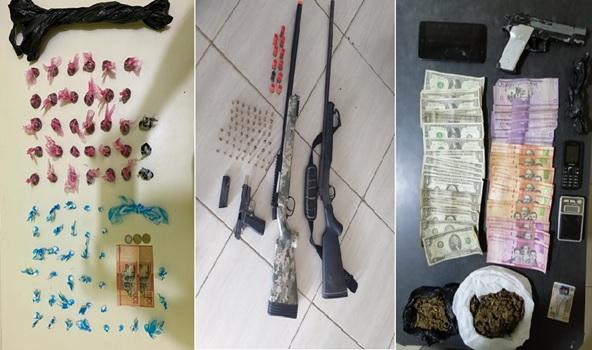 Policía Nacional desmantela puntos de ventas de drogas en Santiago