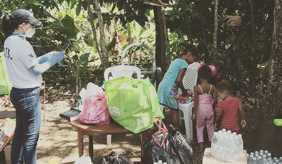 Movimiento Soy Bendecido entrega ayudas en Bonao
