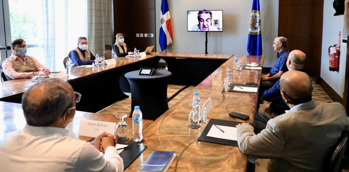 Gonzalo Castillo se reúne con misión OEA; pide ningún candidato se declare ganador hasta que emitan resultados