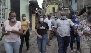 Alcaldesa Carolina Mejía inspecciona obras comunitarias que ejecuta el ADN