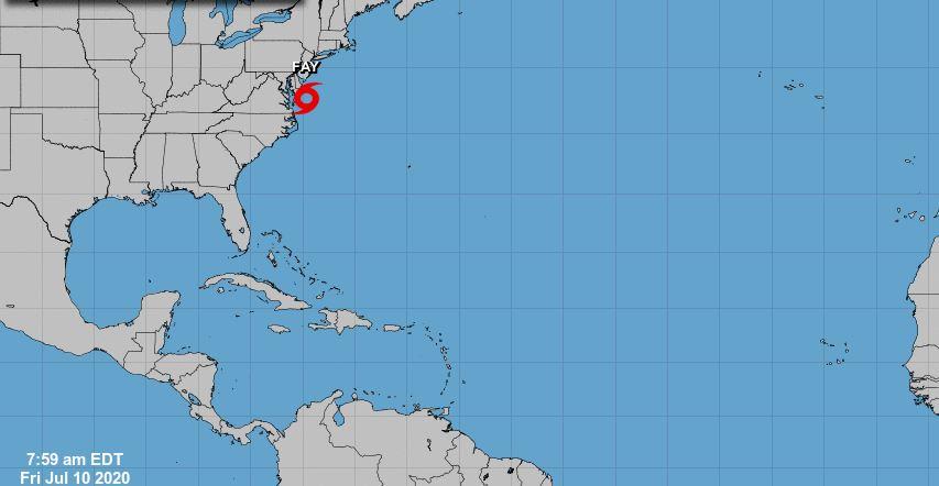 La tormenta tropical Fay tocará tierra en los Estados Unidos hoy o mañana