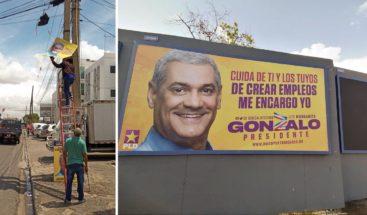 Gonzalo Castillo manda a retirar todo su material publicitario de las calles