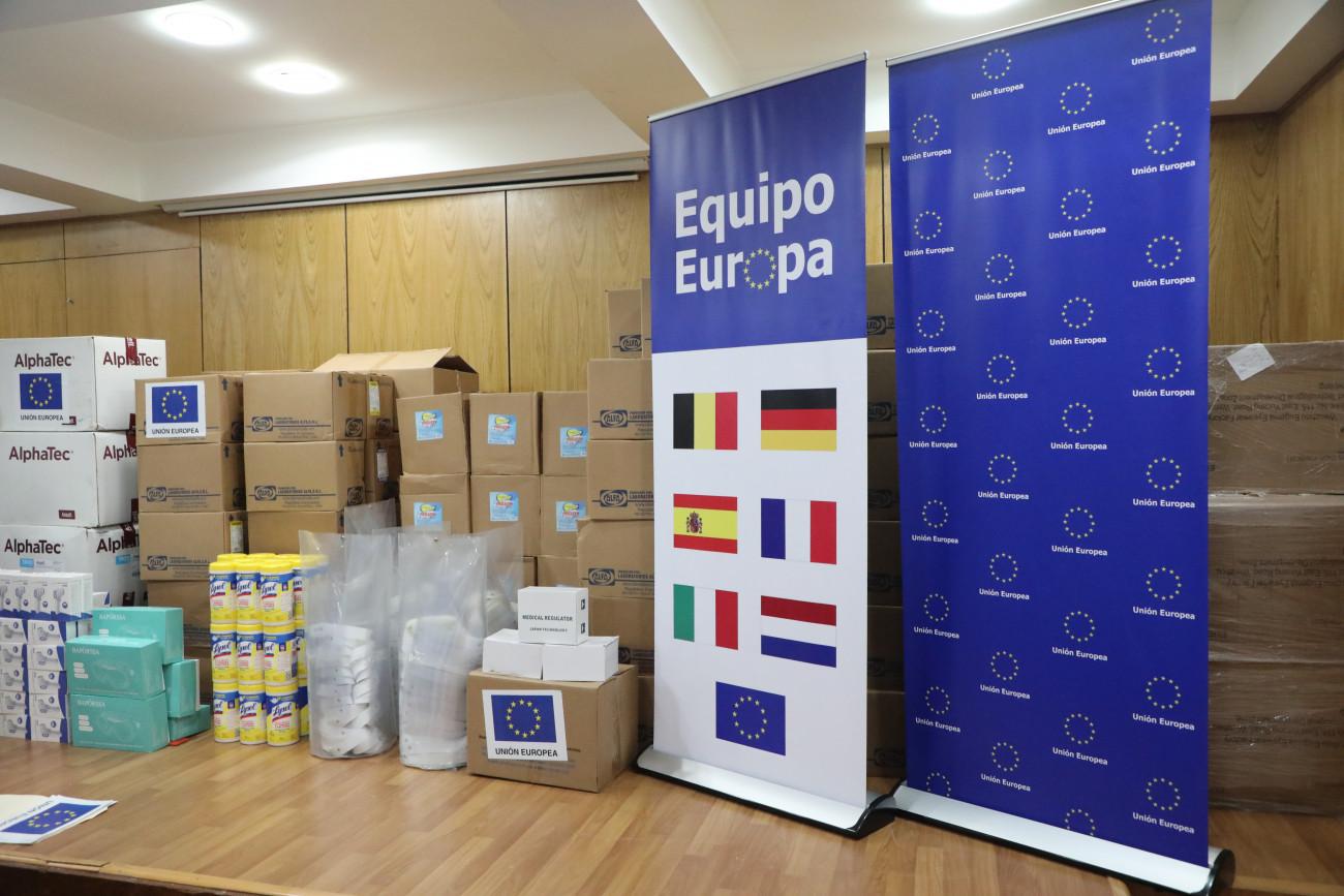 Con apoyo de Unión Europea, Equipo Europa entrega donación a RD para responder al COVID-19