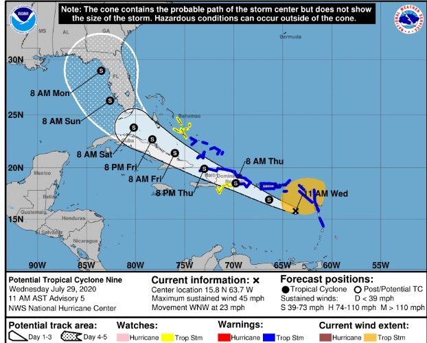 Continúa alerta para República Dominicana y Puerto Rico por tormenta tropical