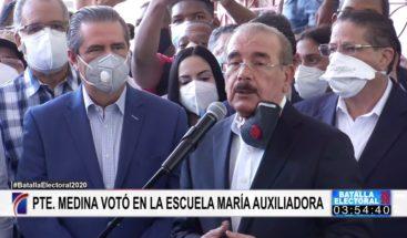 Presidente Medina llama a respetar los resultados,