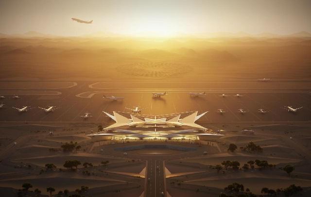 El mega aeropuerto en medio de desierto que tendrá Arabia en 2023