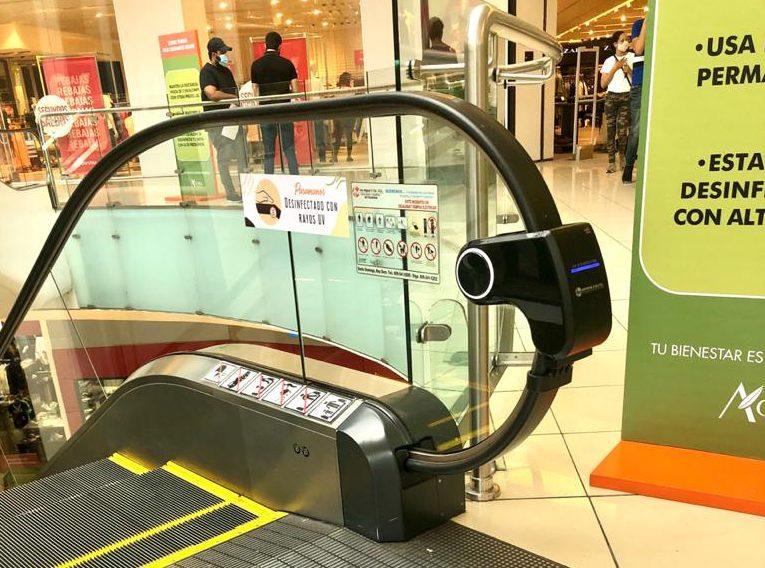 Ágora Mall instala lámparas esterilizadoras en ascensores panorámicos y escaleras eléctricas