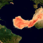 Una de las mayores nubes de polvo del Sáhara registrada se extiende a través del Atlántico