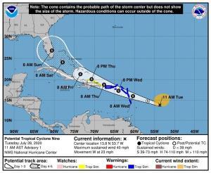 Alerta en puertos de Islas Vírgenes y Puerto Rico por aviso de tormenta tropical