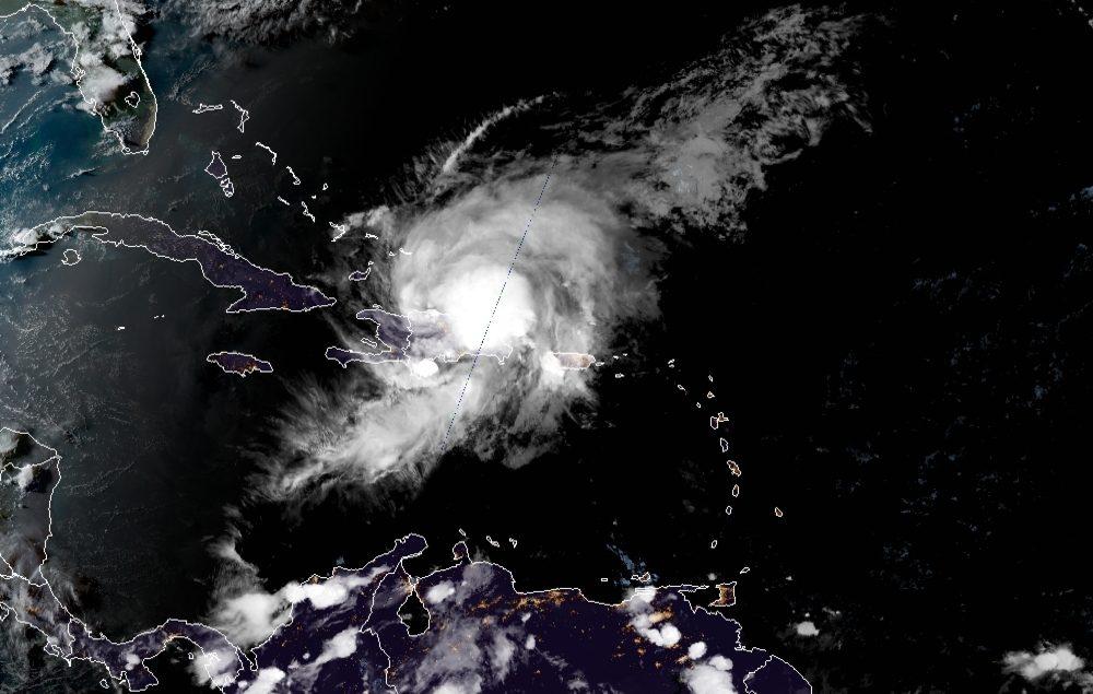Centro de la tormenta Isaías dejaría territorio dominicano en las próximas horas