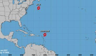 Tormentas Josephine y Kyle avanzan por el Atlántico sin suponer amenaza