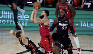 VanVleet se luce con 36 puntos; Raptors vencen al Heat