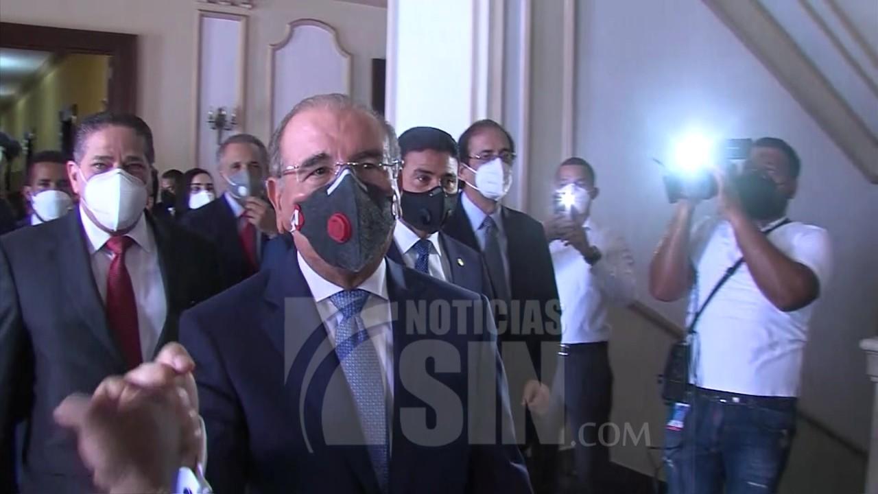 Medina se despide de colaboradores del Palacio Nacional