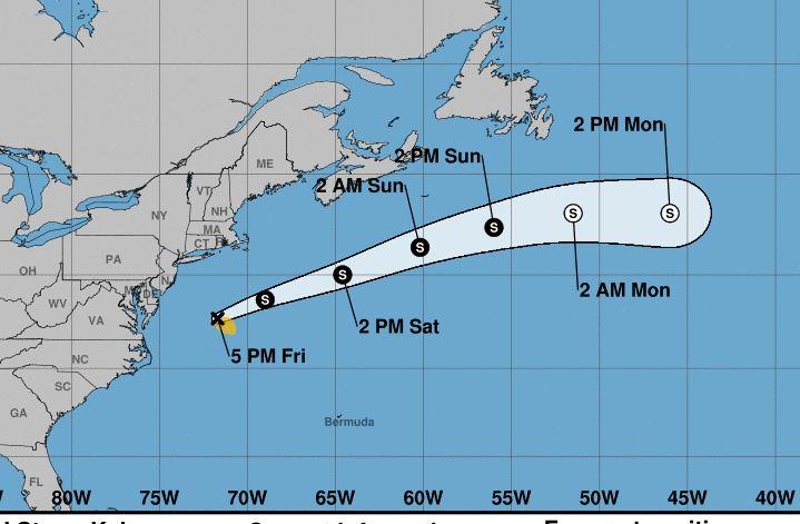 Tormenta Kyle se forma en Atlántico norte mientras Josephine avanza en Caribe