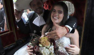 Vestida de charro y en una íntima ceremonia fue la boda de la hija de Alejandro Fernández