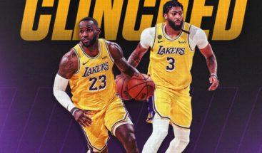 Los Lakers vencieron a Utah 116-108 y aseguran el primer lugar de su división para la postemporada de la NBA