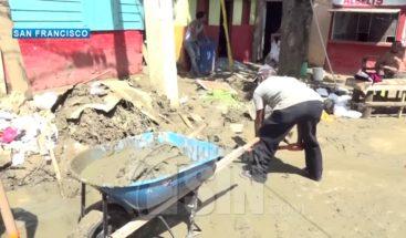 En SFM, residentes del barrio Azul afectados por Isaías exigen ser reubicados