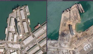 El antes y después de la explosión que causó gran destrucción en Beirut