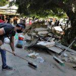 Los libaneses recuperan Beirut con sus palas y escobas
