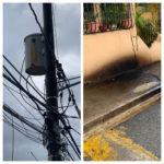 Residentes denuncian  transformador derramando aceite en Vista Bella I de Villa Mella