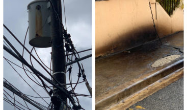 Residentes denuncian  transformador derramando aceite en Bella Vista de Villa Mella
