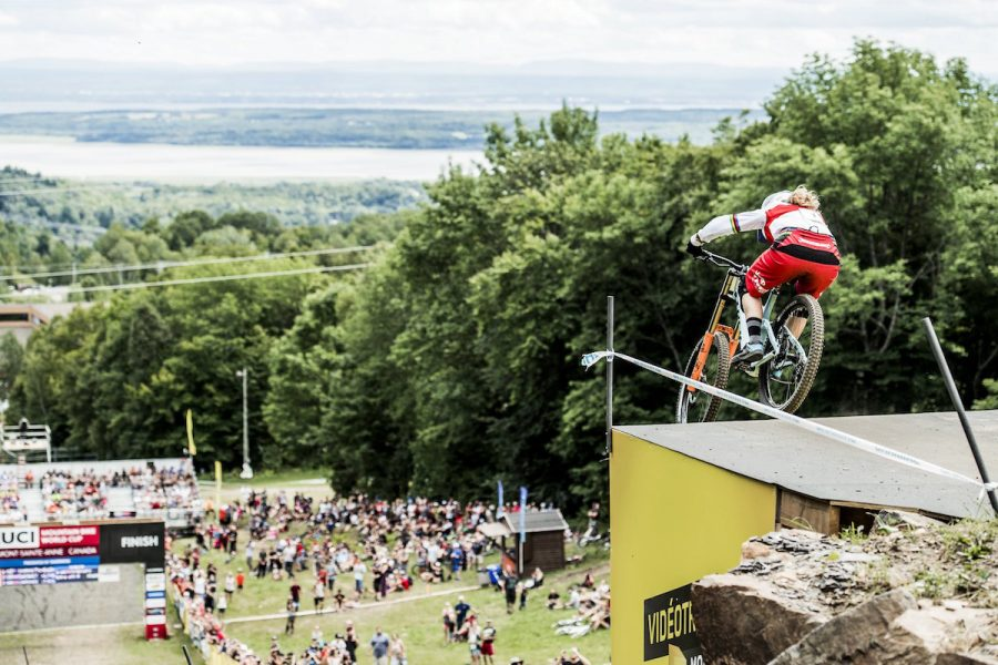 Rachel Atherton performs at the UCI DH World Tour in Mont Saint Anne, Canada on August 6th, 2016 // Bartek Wolinski/Red Bull Content Pool